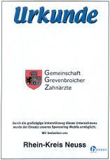 Urkunde des Rhein-Kreis-Neuss